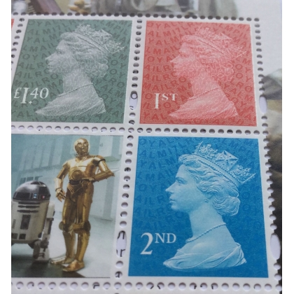 3702P.7 1st class, 2nd class & £1.40 M17L MPIL stamps from Star Wars PSB 2017
