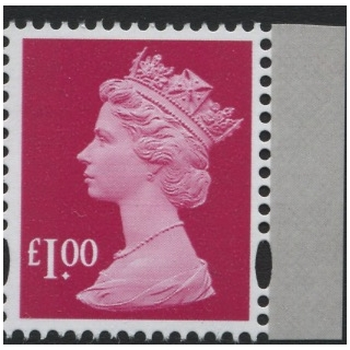 4101P.7 £1 ruby M17L MPIL from Machin ..