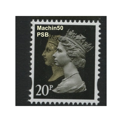 2133 20p Doublehead Machin new stamp from Anniversary PSB