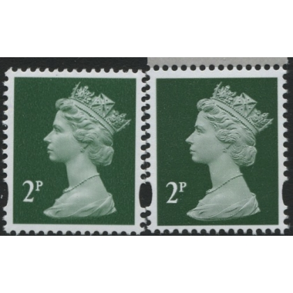 Y1668-17 2p green new print from Machin Anniversary PSB 2017