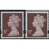Y1670-17 5p red-brown new print from M..