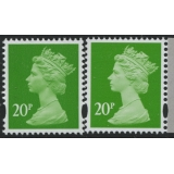 Y1678-17 20p bright green new print fr..