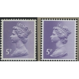X866-17 5p pale violet new print from ..