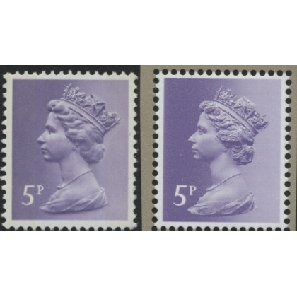 X866-17 5p pale violet new print from Machin Anniversary MS 2017