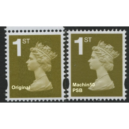 2657-17p 1st class PIP Machin new stamp from Anniversary PSB