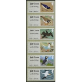 FS05 Birds 4 Faststamps 6 x 1st class ..