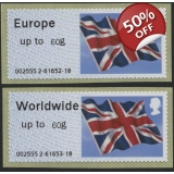 FS09-60p Union Flag Faststamps 60g pai..