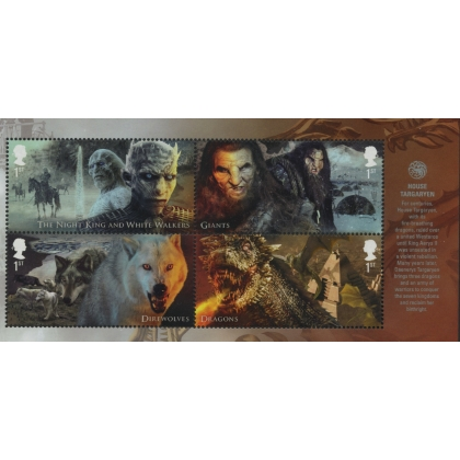 4044-7 Game of Thrones Creatures gummed from PSB