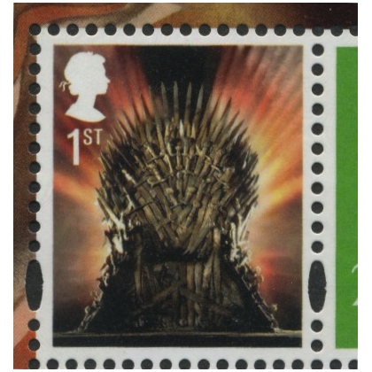 4049 Game of Thrones Iron Throne 1st class gummed from PSB