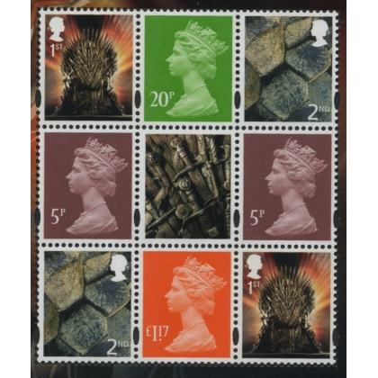 4117p Set of 3 Machin definitives M17L MPIL from Game of Thrones Iron PSB