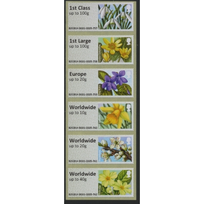 FS15h Spring Blooms 6x1st or Collectors Set from Stampex