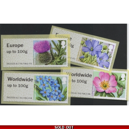 FS16c-100 Symbolic Flowers Faststamps 100g additional values