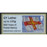 FZG05 Guernsey Flag Post & Go 500 Year..