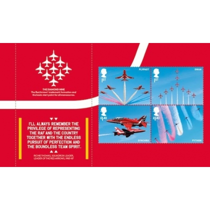 4068-71 Red Arrows stamps from RAF Centenary PSB