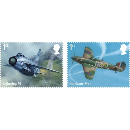 4075-6 RAF Centenary self-adhesive stamps from retail book