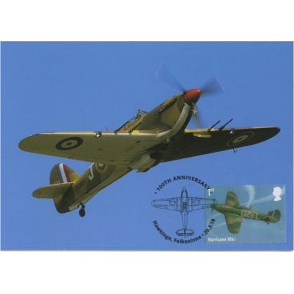 4059mx3 Royal Air Force Maximum Card - Hurricane
