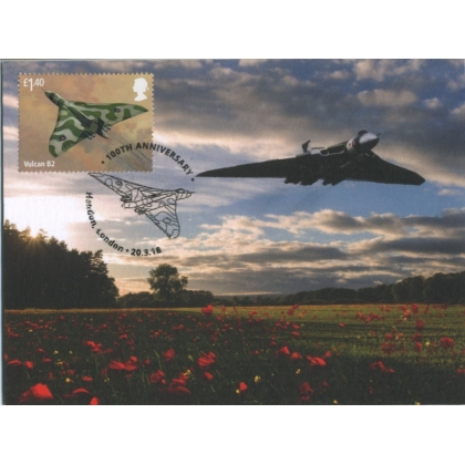 4060mx3 Royal Air Force Maximum Card - Avro Vulcan