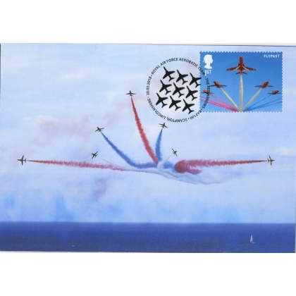 4068mx1 Royal Air Force Maximum Card - Red Arrows