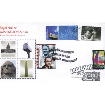 2627a Washington 2006 Stamp Exhibition first day cover, treble-dated.