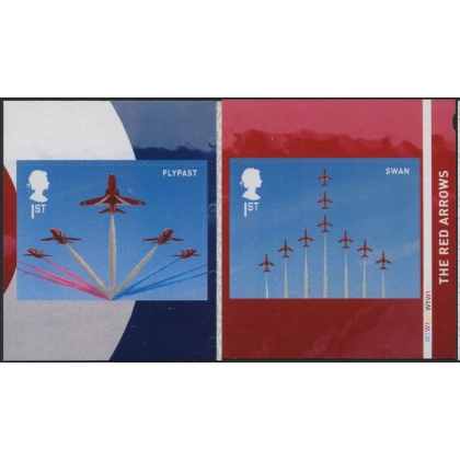 4077-8 RAF Red Arrows self-adhesive stamps from retail book
