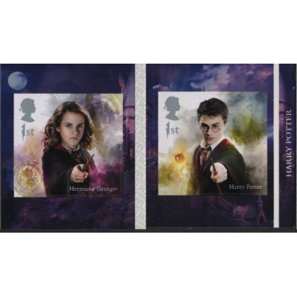 4152-3 Harry Potter stamps from 6x1st book on SBP1/2