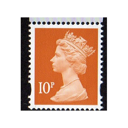 Y1676-w 10p orange brown Machin Walsall Gravure 2012