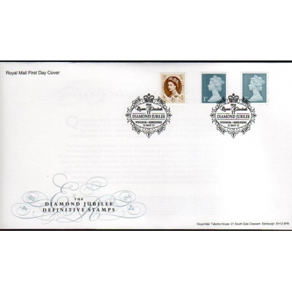 20120531 Diamond Jubilee PSB & retail booklet stamps on FDC