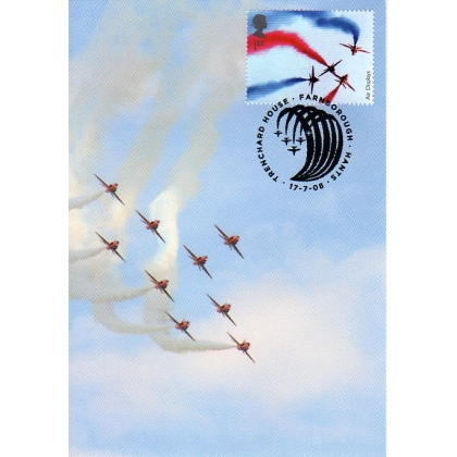 2855b RAF Red Arrows Maximum Card 2008