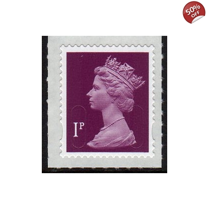 3001 1p crimson Machin security definitive stamp