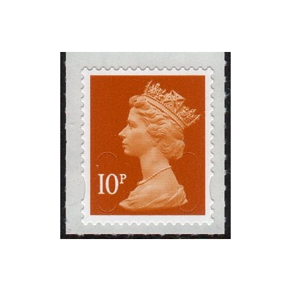 3010 10p brown Machin security definitive stamp