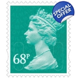 3068 68p blue-green MAIL M11L definiti..