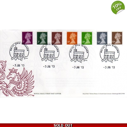 20130103 Low Value Machin Definitives FDC
