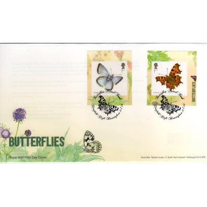 3509 Butterflies booklet stamps first day cover 2013