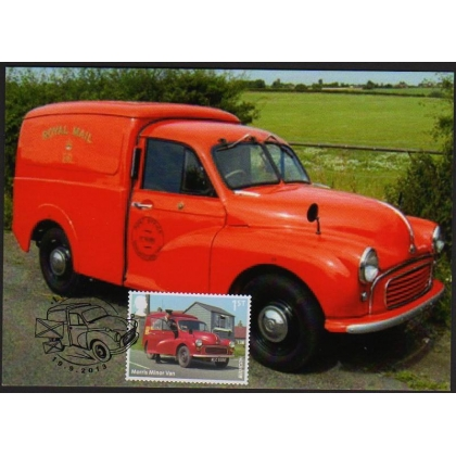 3530 Morris Minor Post Van booklet stamp maximum card 2013