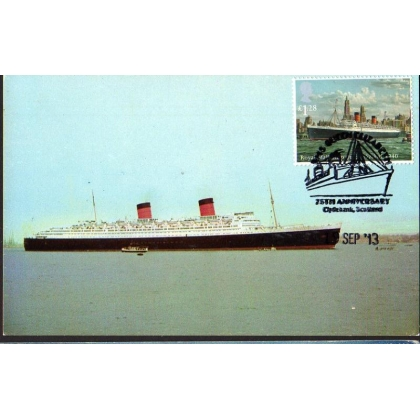 3523xb - RMS Queen Elizabeth Maximum Card 2