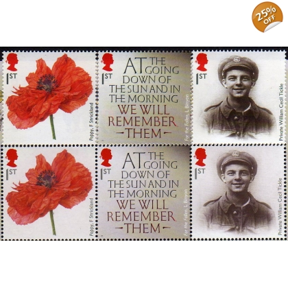 3626a Great War all-over phosphor stamps from PSB