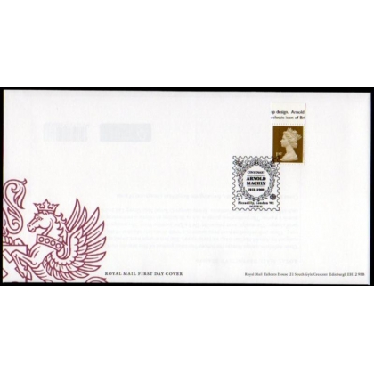 20110914 Arnold Machin Centenary single on FDC