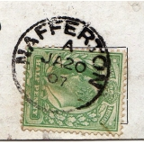 Nafferton single circle postmark