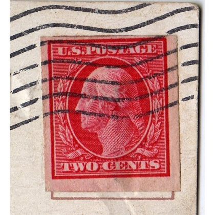 2c Washington Imperf Coil on postcard