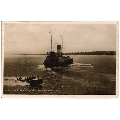 SS Yorkshireman at Bridlington real photo postcard 1935