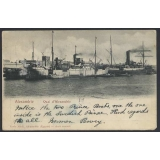 Egypt 1902 Port of Alexandria, ss Swed..