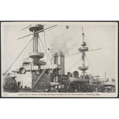 British Battleship in Dock, Gale & Polden postcard