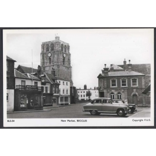New Market, Beccles Suffolk Real Photo..