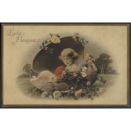 Lieta Pasqua - Italian Easter Greetings postcard