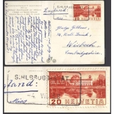 Switzerland 1938 Sihlbrugg station pos..