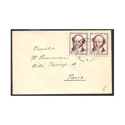 Switzerland 1954 Pro Juventute small cover