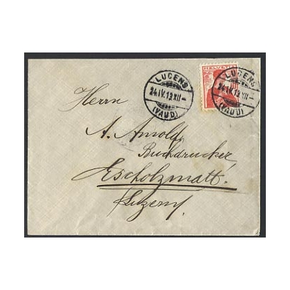 Switzerland 1913 internal cover