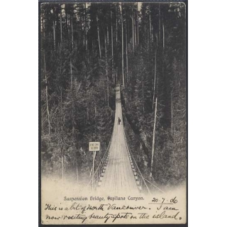 Canada Capilano Canyon Bridge 1906 pos..