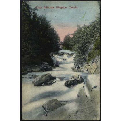 Canada:  Jones Falls, Kingston, colour postcard 1907