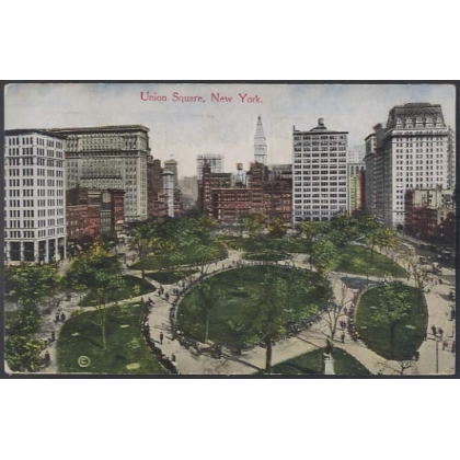 Union Square, New York, USA colour postcard used 1916
